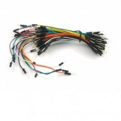 Kit de 65 cables de diferentes tamaños macho-macho