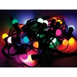 Cadena de luz festiva 11.5m, 20 bombillas de colores led