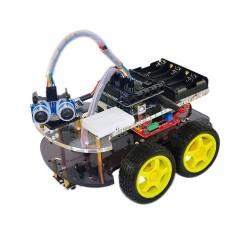 Kit para montar un coche inteligente basado en Arduino Compatible
