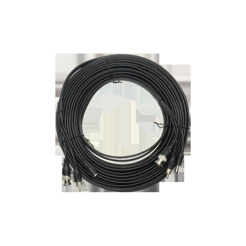 Cable coaxial  combinado RG59 + Audio + DC Mini RG59 con conector BNC RCA JACK