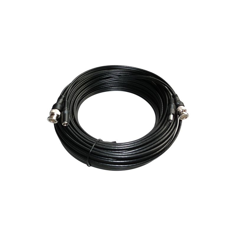 Cable coaxial video y alimentacion conexión BNC 40m