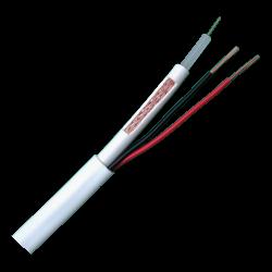 Bobina de cable combinado RG59 y 2 cables de alimentación. Rollo 100m