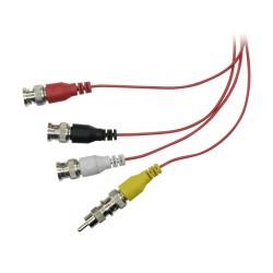 Conector BNC hembra a RCA macho compatible con instalaciones de CCTV