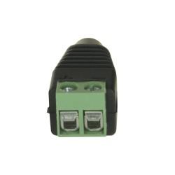Conector DC hembra con salida +/- de dos terminales para cámaras CCTV