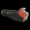 Conector DC macho salida +/- de 2 terminales y con fácil conexionado