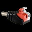 Conector DC hembra con salida +/ de 2 terminales