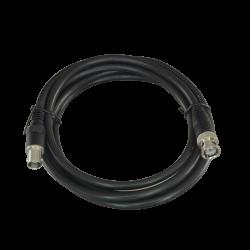 Cable Coaxial RG59 preparado BNC Macho a BNC Hembra de 2 metros.