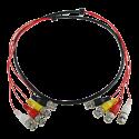 Cable Preparado Múltiple de 4 enlaces coaxial de 1,5 metros de largo