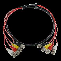 Cable Preparado Múltiple de 4 enlaces coaxial de 1,5 metros.