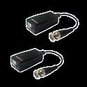 Balun Transceptor pasivo por par trenzado CCTV 1 canal de vídeo Aislador bucle d