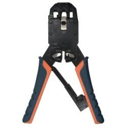 Herramienta especial de crimpado para conectores RJ45 / RJ11 / RJ12 sobre cable