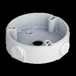 Caja de conexiones para cámaras domo, instalación en techo o pared