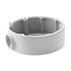 Caja de conexiones Para cámaras domo Apto para uso exterior Instalación en techo o pared