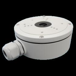 Caja de conexiones para cámaras domo apta para interior o exterior.