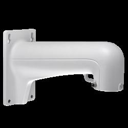 Soporte de pared para cámaras domo apto para uso en exterior.