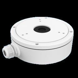 Caja de conexiones para cámaras domo, ideal para utilización exterior.