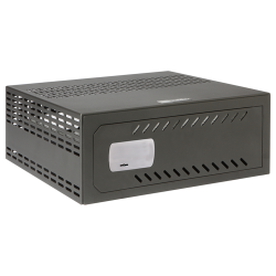 Caja fuerte para DVR de 1U rack Cerradura mecánica con ventilación y pasacables