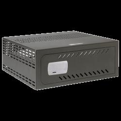Caja fuerte para DVR CCTV con cerradura mecánica, ventilación y pasacables
