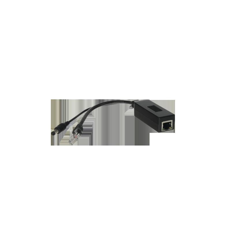 PoE Splitter almacena y conecta camaras IP a un cable de red, E/S RJ45