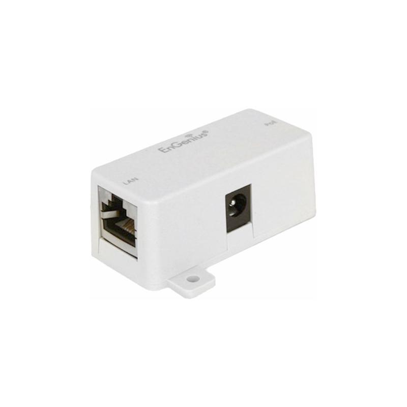 Inyector PoE Datos y alimentación en un solo cable UTP Entrada RJ45 / DC IN Salida RJ45 (PoE y Datos)
