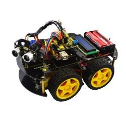 Kit para montar un coche 4WD multifuncional con Bluetooth, basado en Arduino