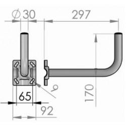Soporte en L  antenas 60 y 80cm50,60,65cm