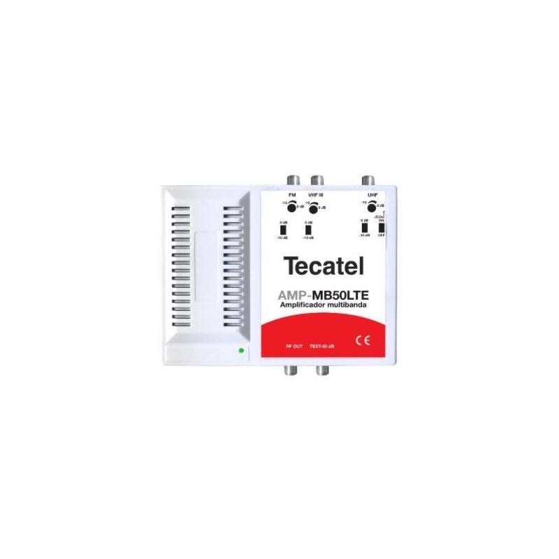 Amplificador multib.50dB, 3 ent, FM/VHFIII/UHF LTE