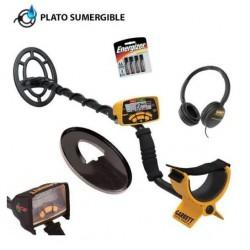 Detector de metales Garrett ACE 300i. Pinpointing electrónico y plato sumergible.
