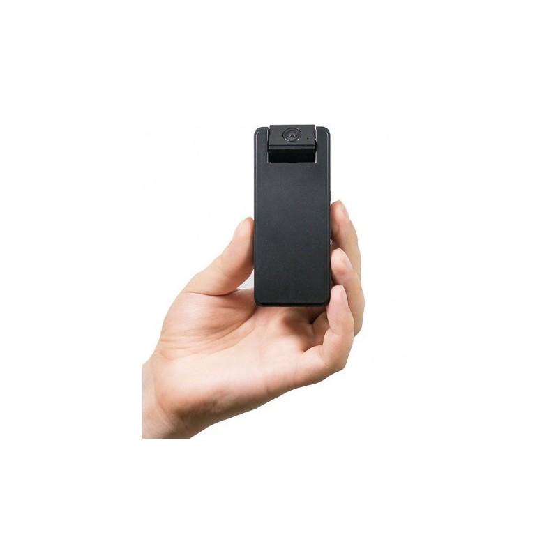 Mini cámara espía HD cabezal basculante 160º. Triple sistema de activación