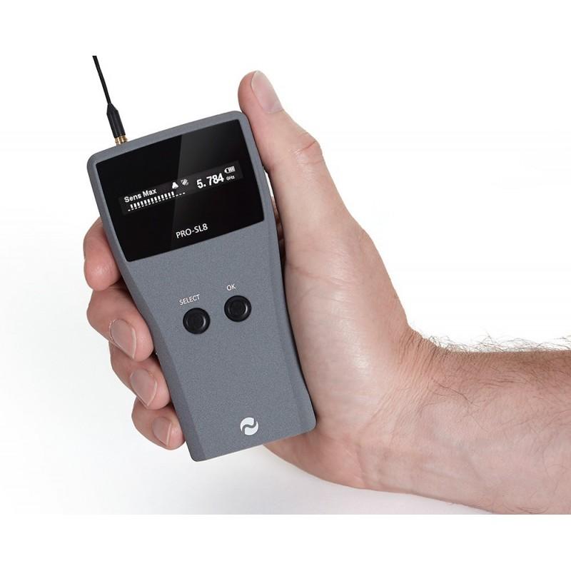 Detector de micrófonos, cámaras espía y lapas ultracompacto