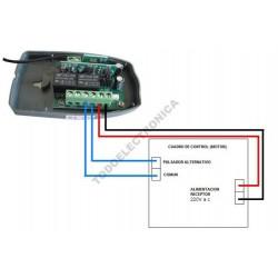 Receptor universal de garaje con 433 Mhz evolutivo 220V y de 2 canales