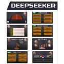 Detector de oro, diamantes y tesoros Deep Seeker con cinco sistemas