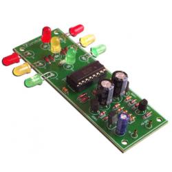 Kit electrónico para montar una luz de tráfico para 4 vías con 12 Leds