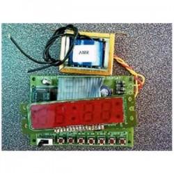 Kit electrónico para montar un Reloj digital display Led's 110-220 VAC
