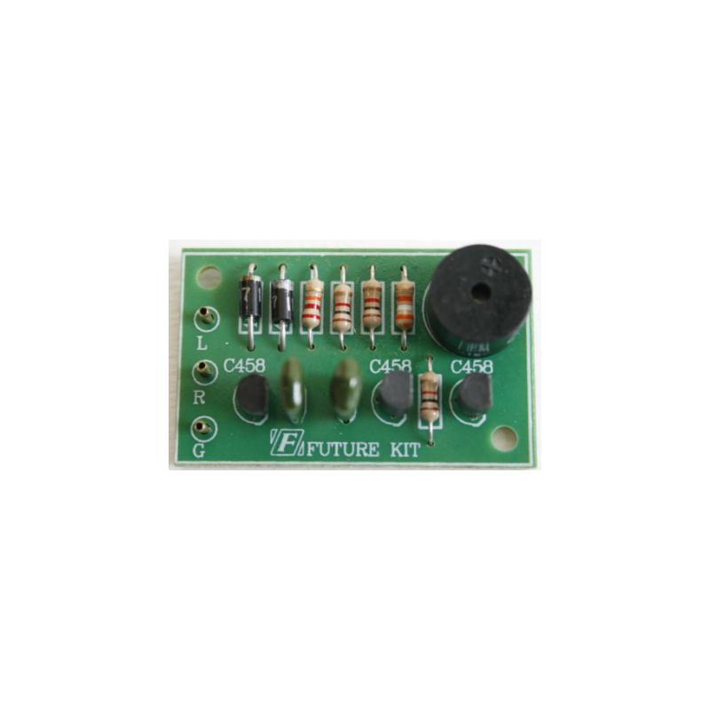 Kit electrónico para montar una Alarma de encendido de luces de coche