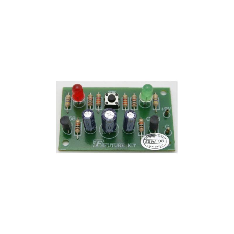 """Kit electrónico para montar el famoso juego """"cabeza o cola"""". 6 a 12 V"""