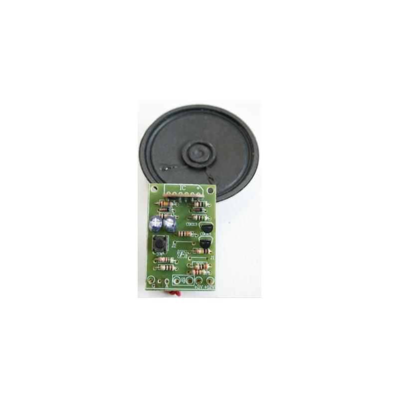 Kit para montar un circuito generador de sonidos de un bebé llorando