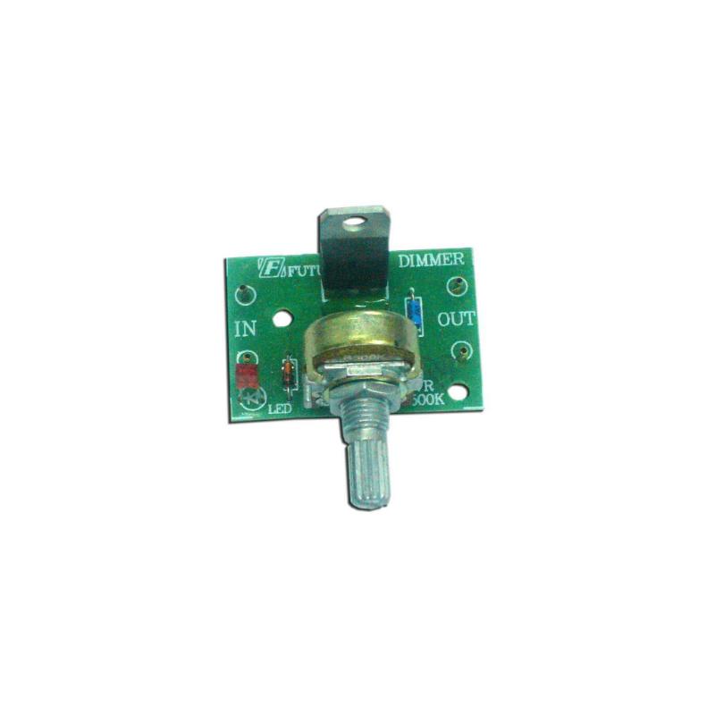 Kit electrónico para montar un Atenuador de luz ajustable Triac 1000 W