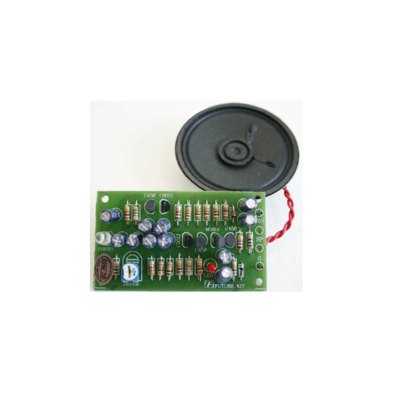 Kit electrónico para montar Avisador de visitas. Instalación en puerta