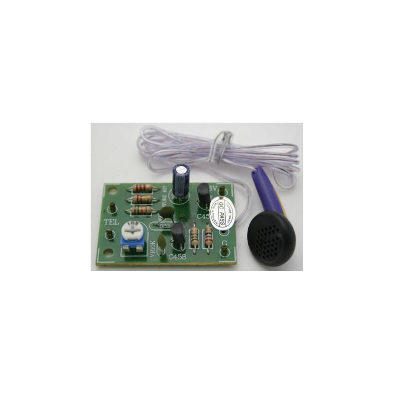 Kit electrónico para montar un Circuito de intercepción telefónica