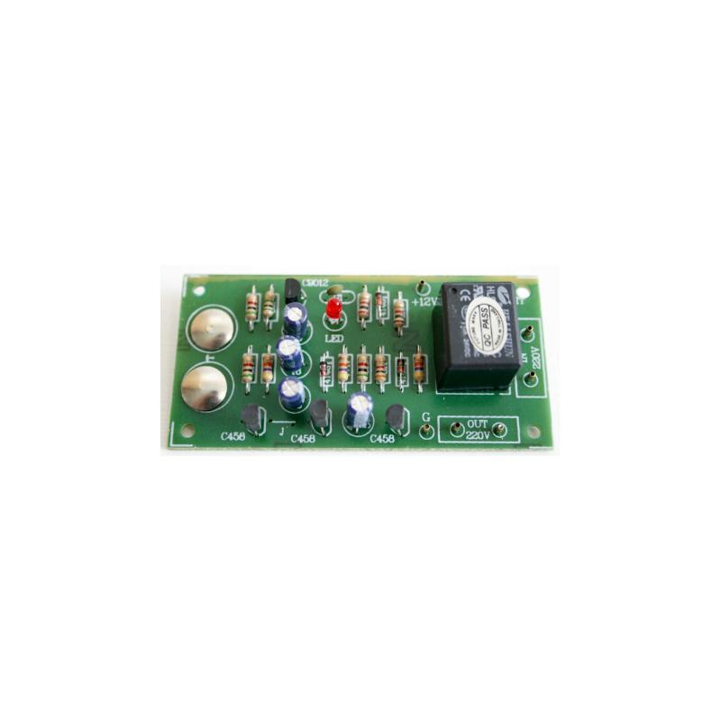 Kit electrónico para montar un Interruptor por contacto ON - OFF a 12V