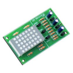 Kit electrónico para montar un circuito de 7 Led's de 2 vías 9-12 V CC