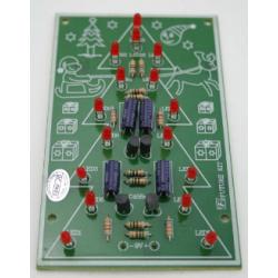 Kit electrónico para montar un árbol de navidad decorativo con 16 LEDs