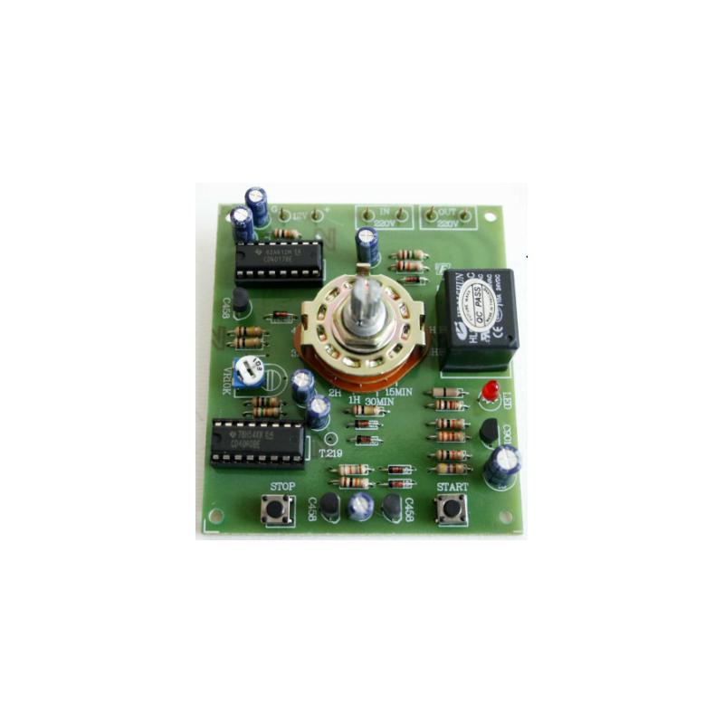 Kit electrónico para montar un Interruptor por tiempo de 0 - 10 Horas
