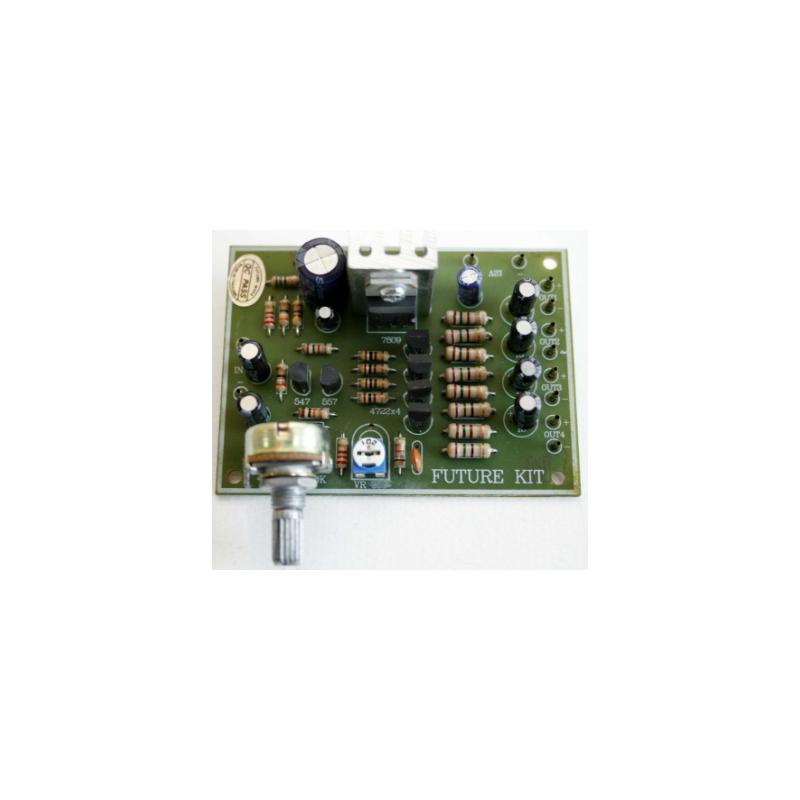 Kit electrónico para montar un amplificador de vídeo de 1 a 4 canales
