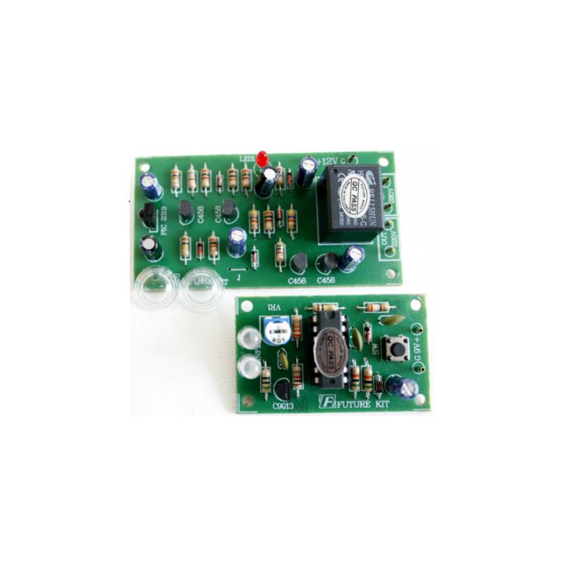 Kit electrónico para montar un Control remoto infrarrojo 16 Metros 1CH