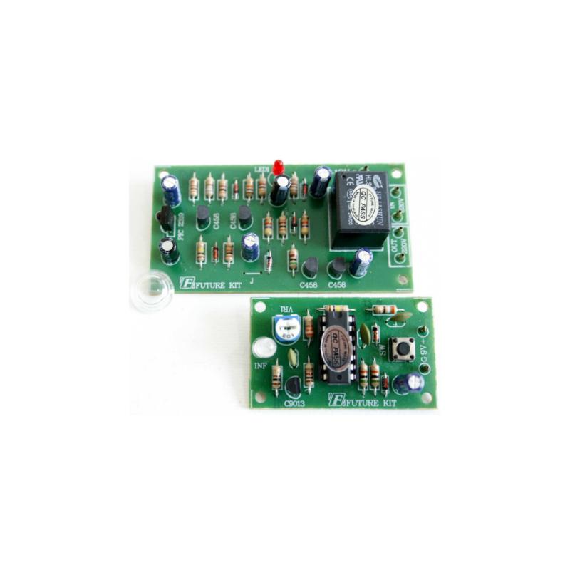Kit electrónico para montar un Control remoto infrarrojo. 12 Voltios