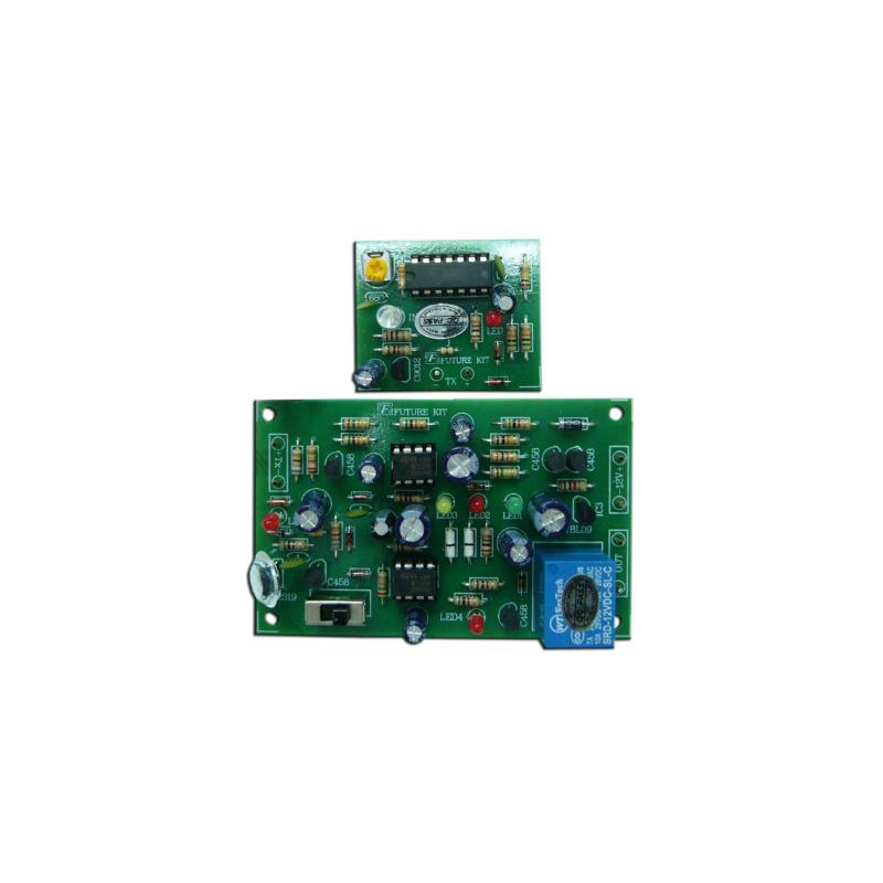 Kit electrónico para montar una Alarma antirrobo. Infrarrojos ocultos
