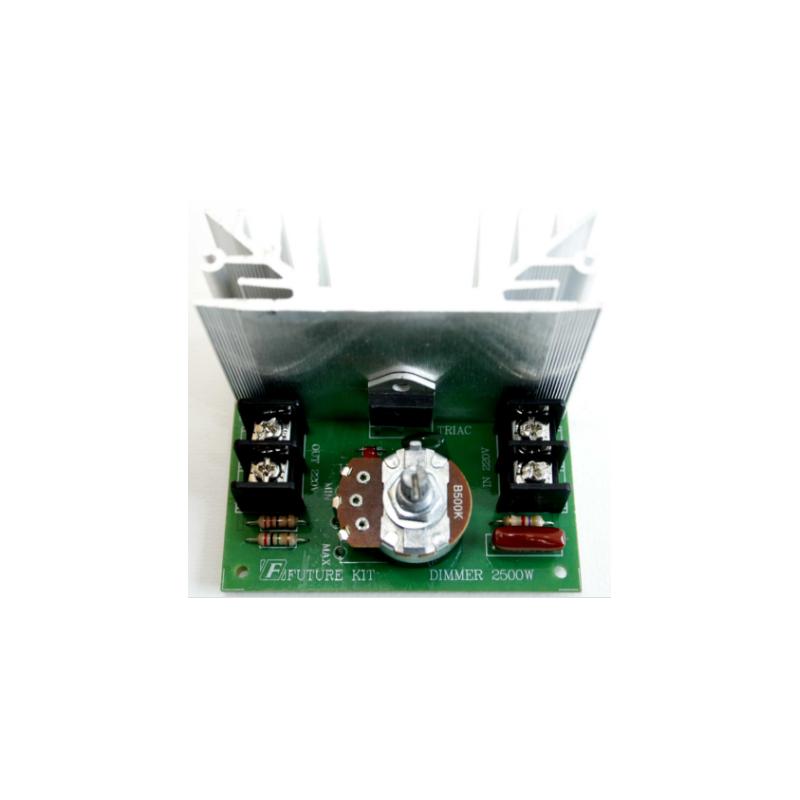 Kit electrónico para montar un Atenuador de luz ajustable 2500 Watios