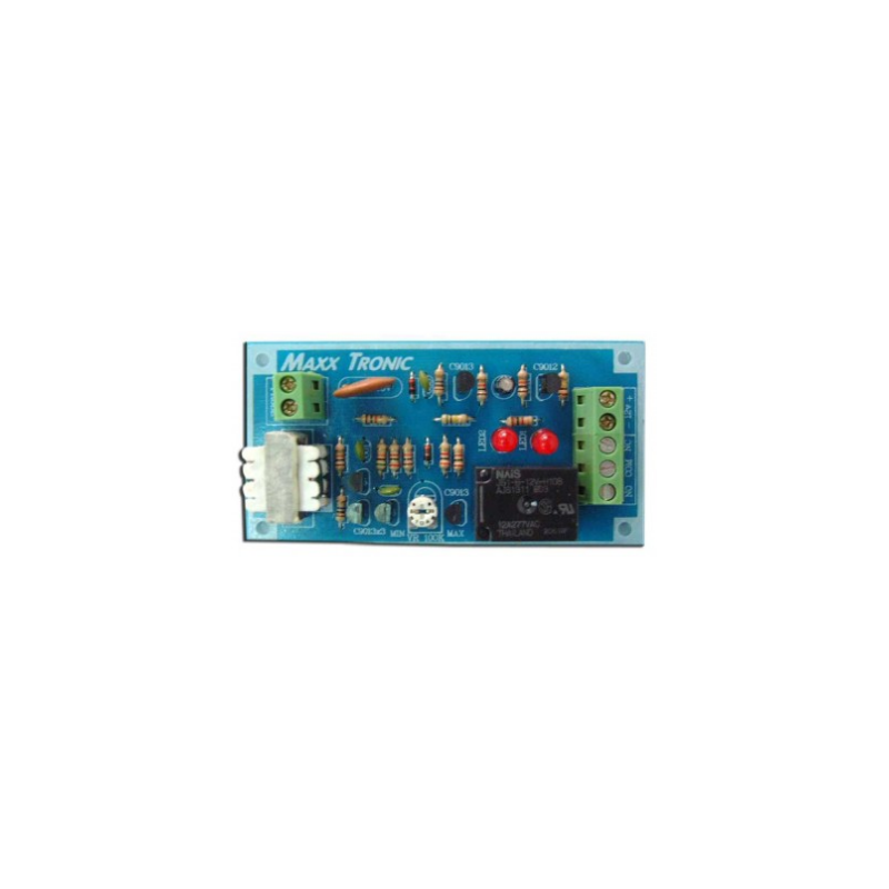 Circuito detector de incendios con LED indicador de operación de relay